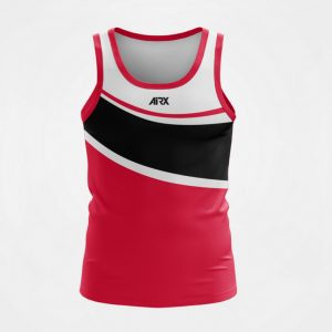 Custom Singlet Red and White