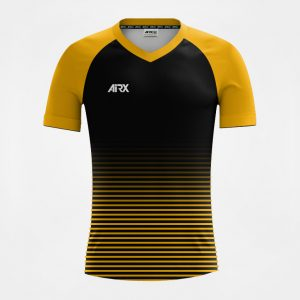 Custom Soccer Jersey Design Black and Gold