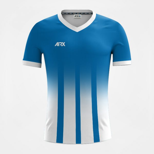 Custom Soccer Jersey Design Blue and White