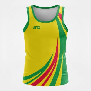 Custom Touch Football Singlet Design Front View