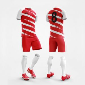 Custom Football Kit Design Red and White