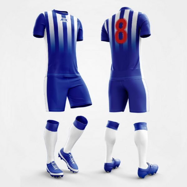Custom Soccer Kit Royal and White