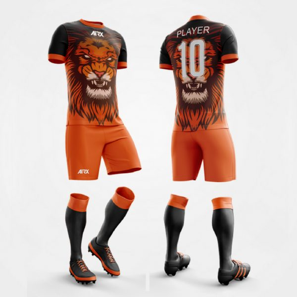 Lion Design Custom Soccer Kit