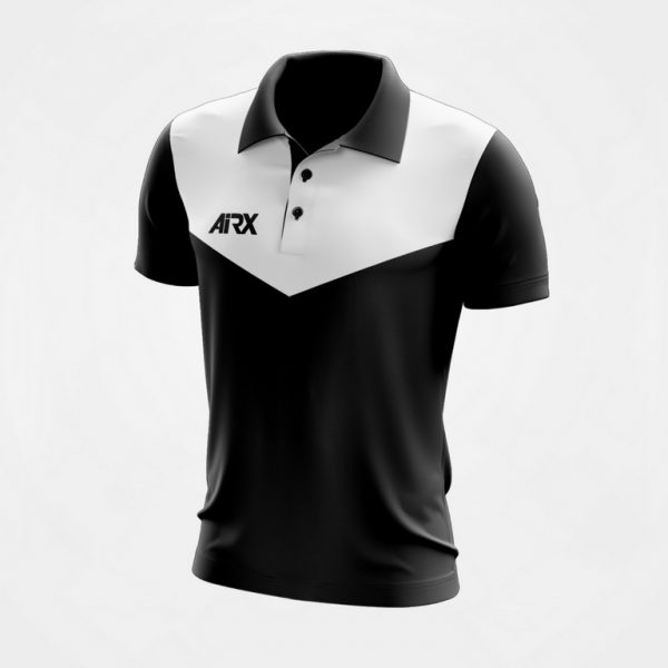 Black and White Polo Shirt