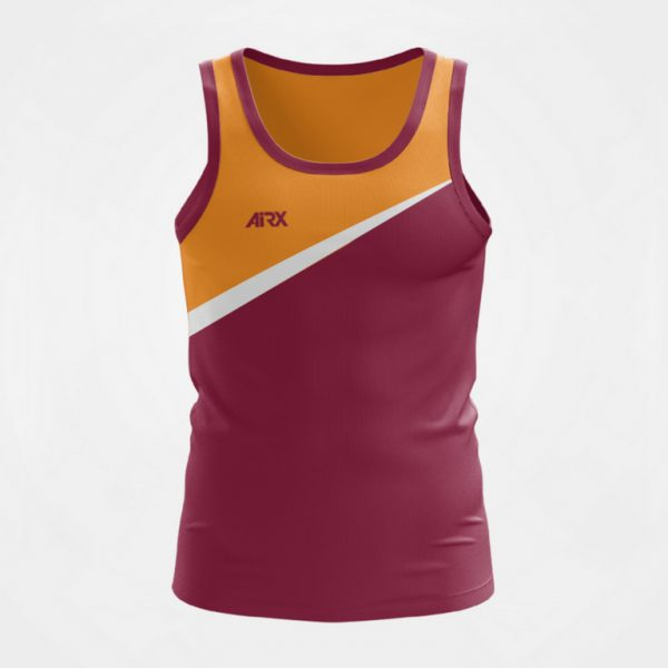 Custom Singlet Maroon and Orange