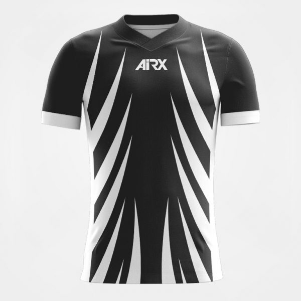 AIRX Custom Football Jersey Black+White Front View