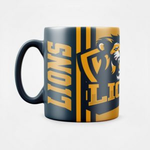 Custom Coffee Mug Design Sports Team Lions